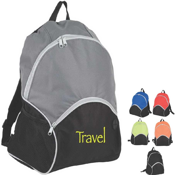 Basic Travel Backpack With Front Zippered Pocket And Padded Shoulder Straps Photo