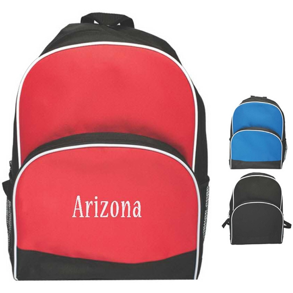 Deluxe Travel Backpack With Double Zippered Compartment And Side Mesh Pocket Photo