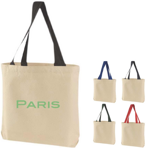 "Canvas Tote With 23"" Web Handle And Open Compartment Photo"