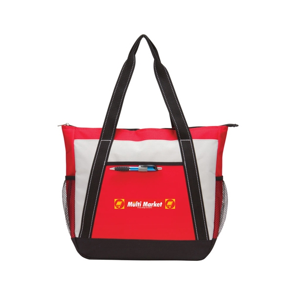 Cooler Tote - Cooler tote made of 600 Denier Polyester. Large main zippered compartment.
