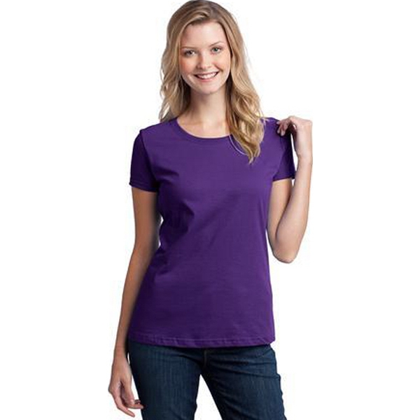 Fruit Of The Loom (r) - S- X L Heathers - Ladies' Heavy 100% Cotton T-shirt With Tag-free Label Photo