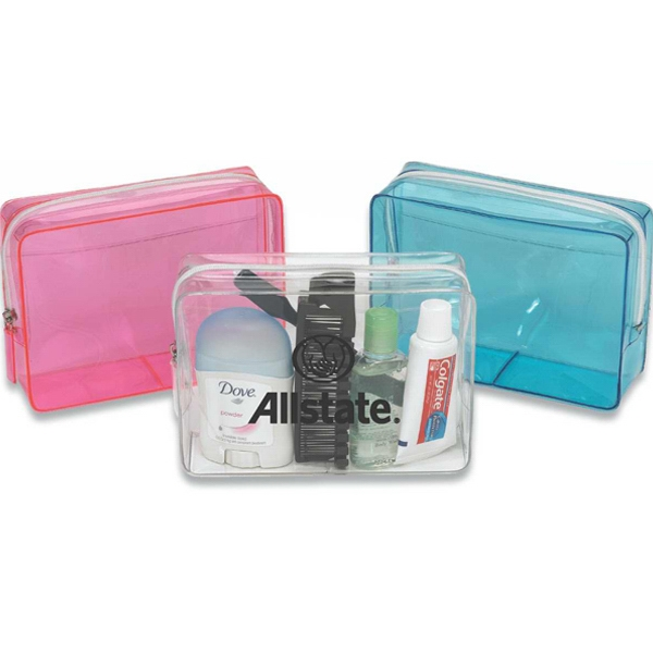 Concord - Colored Transparent Pvc Bag With Outside Clear Pocket Photo