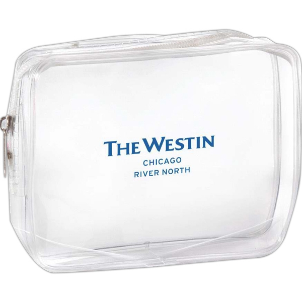 Clear Pvc Cosmetic Or Amenity Bag With Welded Edges Photo