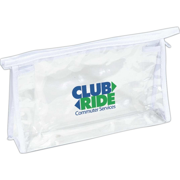 White Trim - Clear Pvc Cosmetic Or Amenity Bag With Trim Photo