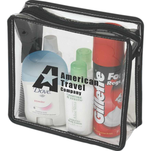 Clear Pvc With Black Trim Travel Amenity Bag Photo