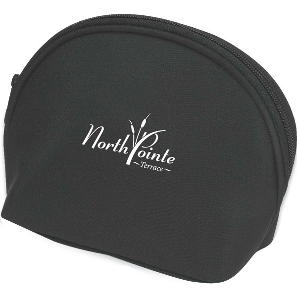 Microfiber Amenity Or Cosmetic Bag With Inside Pockets Photo