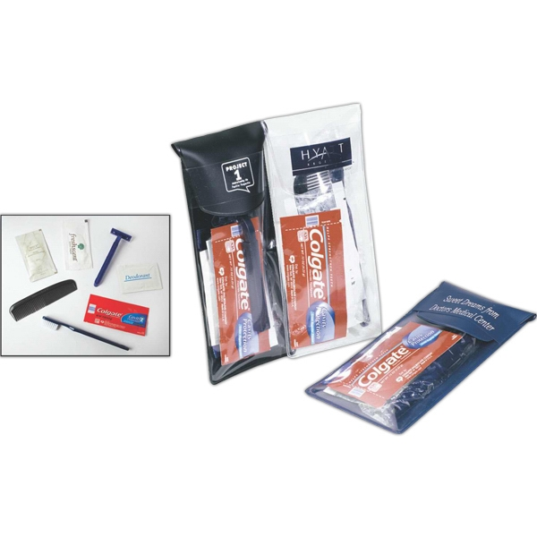 Budget Minder - Amenity Kit With Vinyl Pouch, Shampoo, Toothpaste, Razor And More Photo