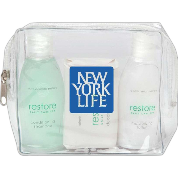 Restore - Clear Vinyl Bag With Conditioning Shampoo, Lotion And Body Bar Photo