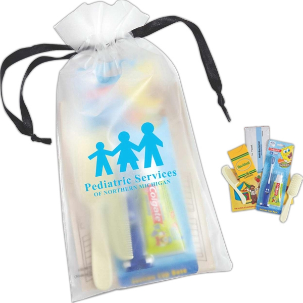 Kids Make It Fun - Drawstring Eva Bag With Crayons, Coloring Book, Toothbrush And Toothpaste And More Photo