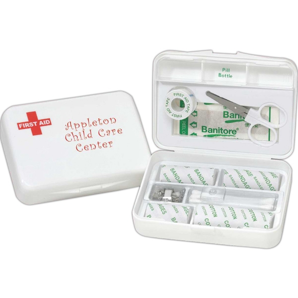 Compact First Aid Kit, 26 Piece In Hard Plastic Case Photo