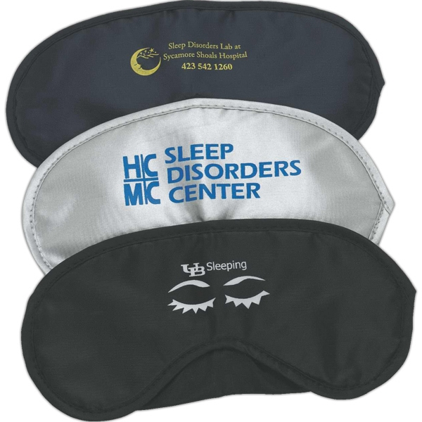 Soft Nylon Eye Mask With Double Comfort Straps Photo