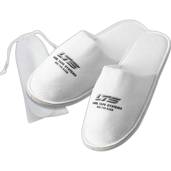 Plush Terry Cloth Slippers With Closed Toe Photo