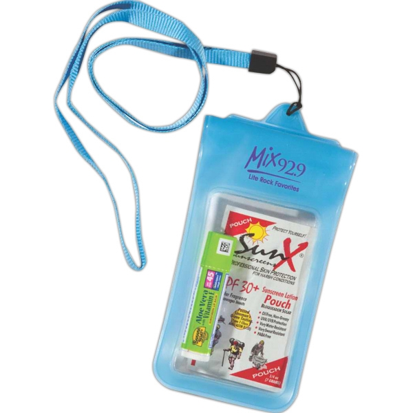 Water Resistant Pouch With Travel Size Amenities Photo