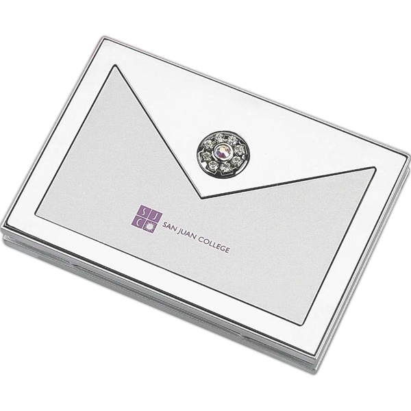 Swarovski - Compact Mirror Includes Standard, Magnification And Decorated With Genuine Stones Photo