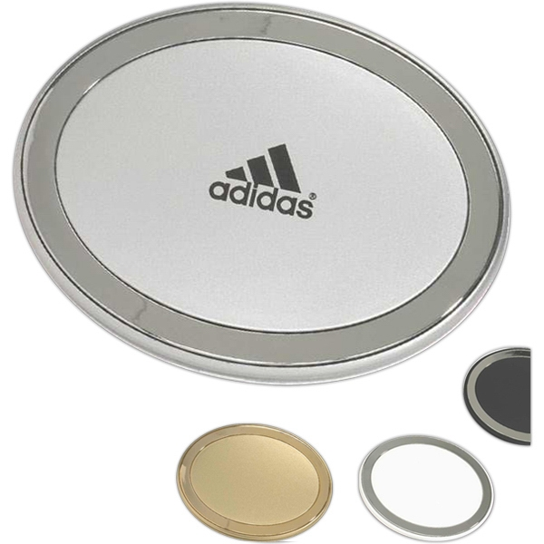 Oval Shaped Compact Mirror With Standard And 3 X  Magnification Photo