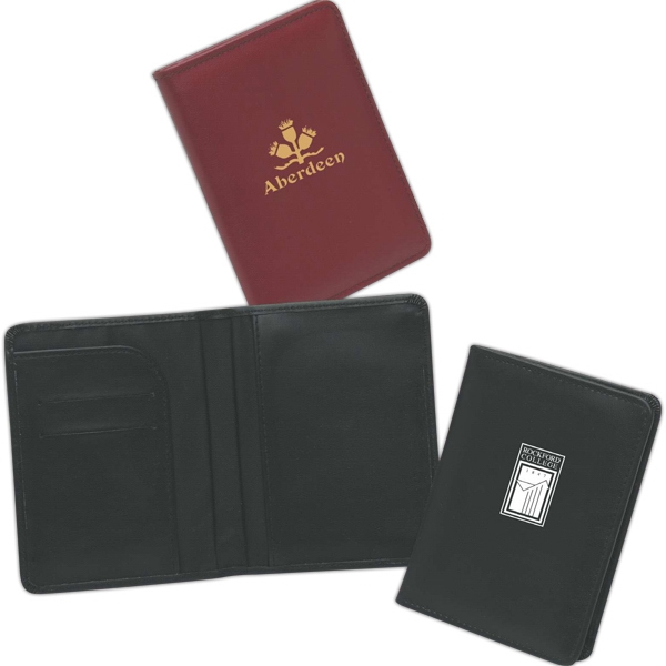 Synthetic Leather Passport Cover With Credit Card Slots Photo