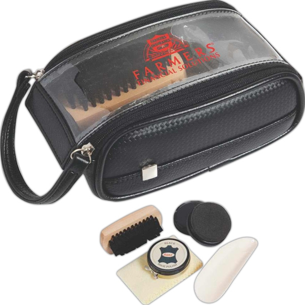 Weekender - Shoe Care Kit With Shoe Horn, Shining Sponge, Brush And Cloth Photo