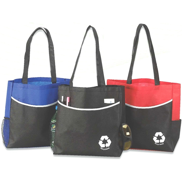 Eco Large Pocket Tote, Made From Non-woven Eco Friendly Recyclable Polypropylene Photo