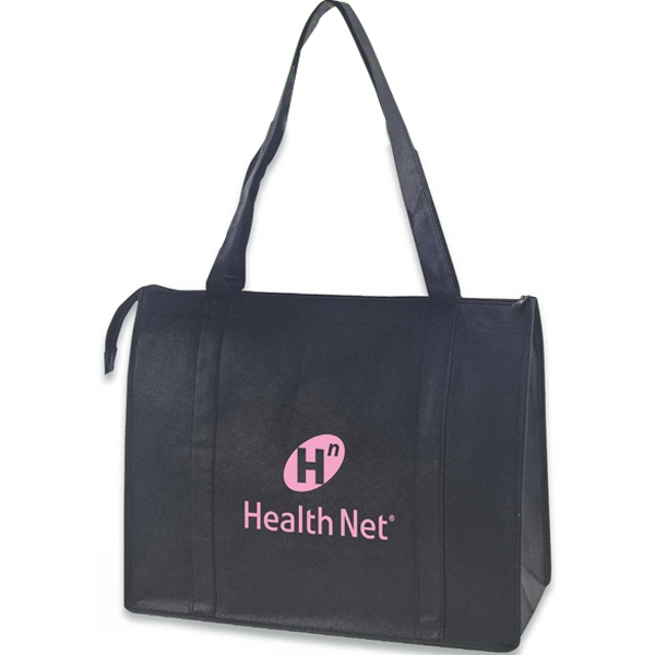 Non-woven Zippered Tote Made Using 100 Gsm Polypropylene Photo
