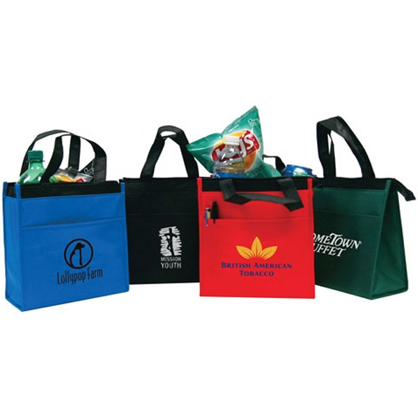 Small Nonwoven Cooler Tote, 90 Gsm Nonwoven Denier Polypropylene And Foil Lining Photo
