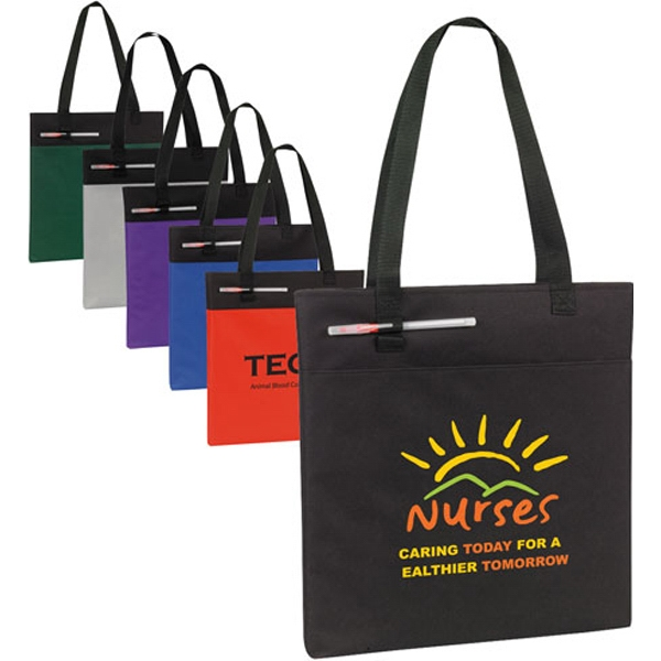 Budget Conference Tote With Black Accent, 600 Denier Polyester Photo