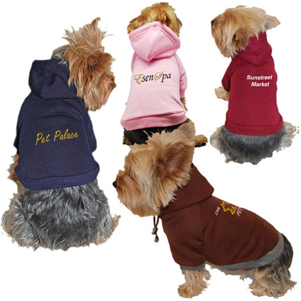Dog Hoody Sweatshirt, Polyester With Cotton Blend Photo