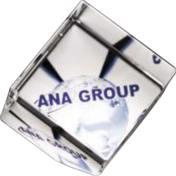 "Illumachrome (tm) Gallery - 2"" X 2"" X 2"" - Clipped Cube Award Made Of Optical Crystal Photo"