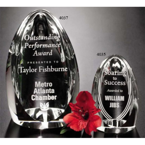 "Pristine Gallery Clipped - 2 1/4"" X 4"" X 2 1/4"" - Award Made Of Optical Crystal And Bottom Pyramid Is Concave Photo"