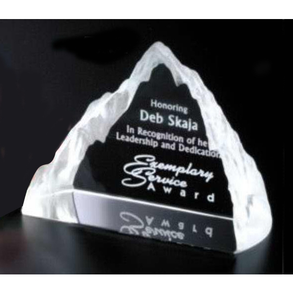 "Matterhorn Pristine Gallery - 4 1/4"" X 3 1/4"" X 1 3/4"" - Award Made Of Optical Crystal Photo"