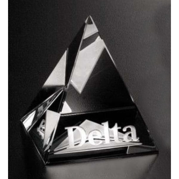 Pristine Gallery - Pyramid Shaped Award Made Of Optical Crystal Photo