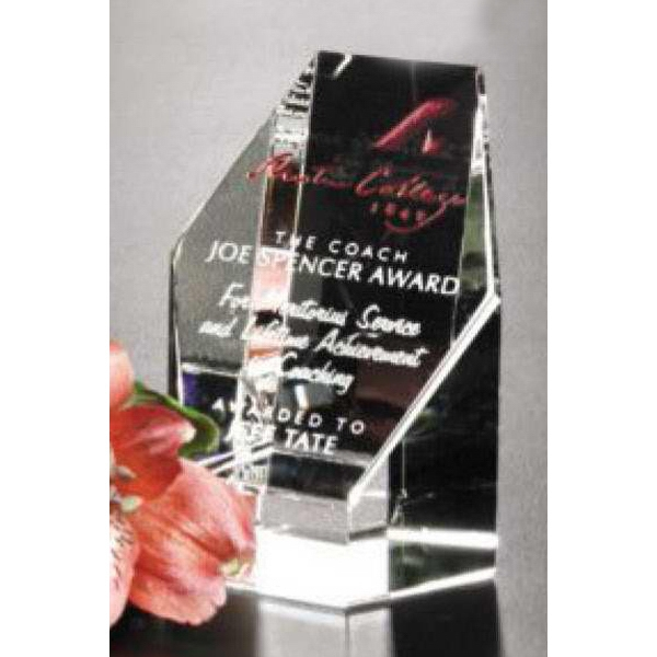 "Citadel Pristine Gallery - 2 1/2"" X 3 1/4"" X 2 1/8"" - Award Made Of Optical Crystal Photo"