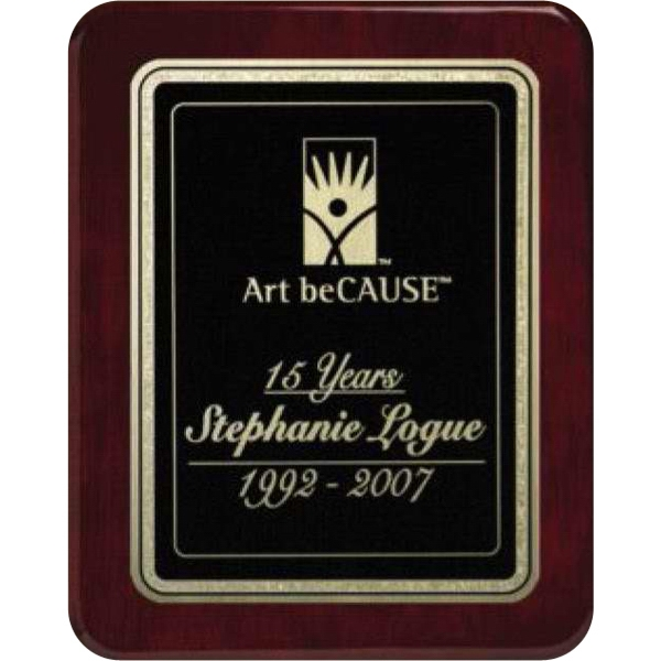 "Champlain Wall Plaque Gallery - 7"" X 9"" - Rosewood Plaque With Piano Finish Photo"