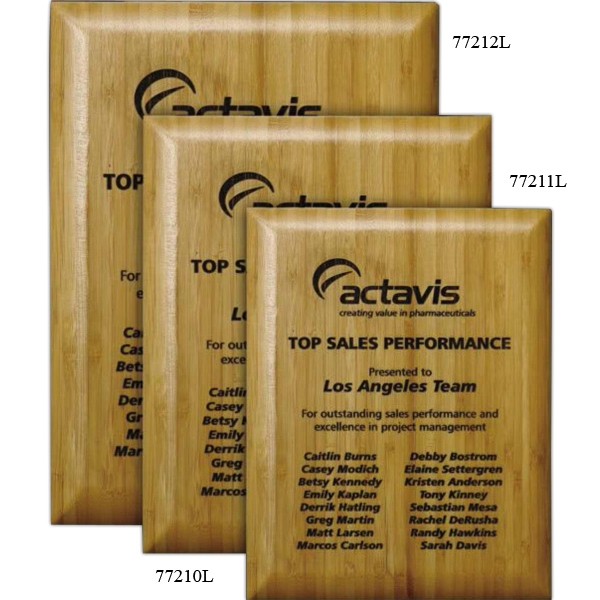 Wall Plaque Gallery - Bamboo Laser Plaque Photo