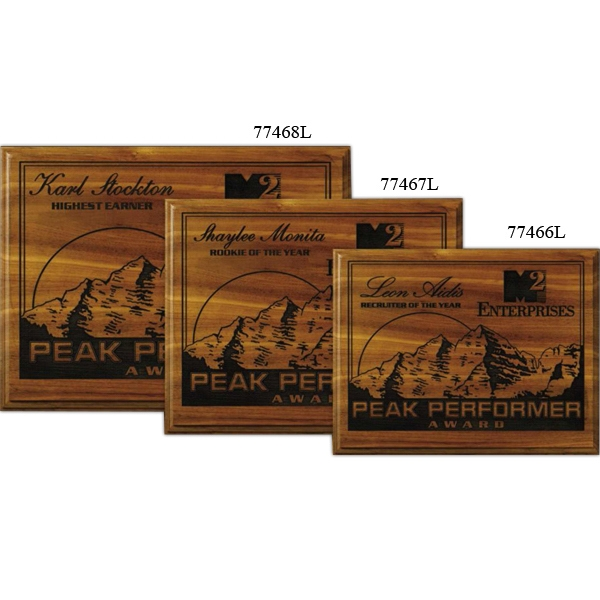 "Kodiak Wall Plaque Gallery - 8"" X 10"" - Plaque With Walnut Natural Finish And Laser Engraving Photo"