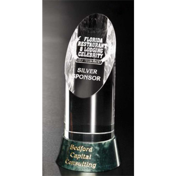"Verde Gallery Vinton - 8"" X 3 1/2"" - Award Made Of Marble And Optical Crystal Photo"