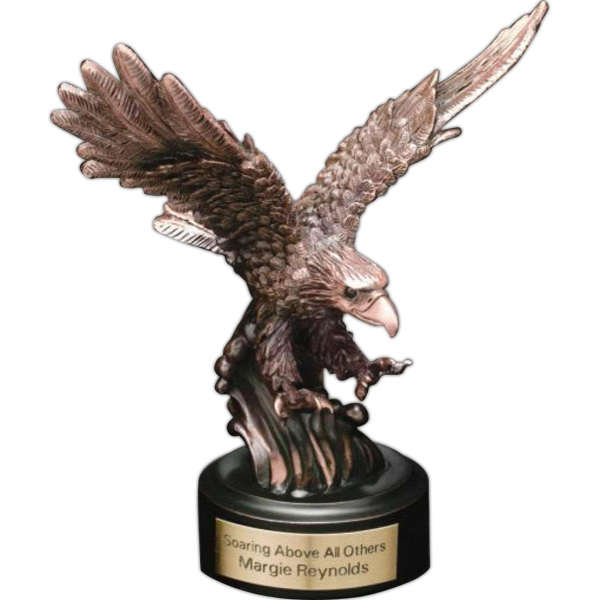 "Landing Eagle Eagle Gallery - Bronze Landing Eagle 6 1/2"" X 6"" X 2"" Award. Blank Photo"