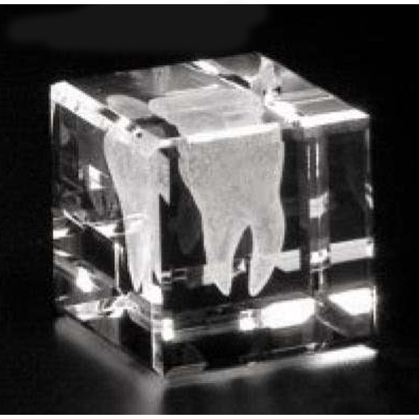 "Crystal 3d Gallery - 1 1/2"" X 1 1/2"" X 1 1/2"" - Optical Crystal Cube Award, Square Shape Photo"
