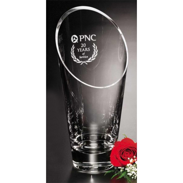 "Westcott - 6"" X 11 1/2"" - Crystal Trophy Vase Photo"