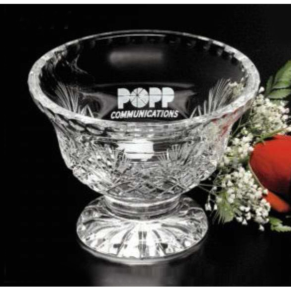 "Durham - 4"" X 5 3/4"" - Footed Lead Crystal Trophy Bowl Photo"