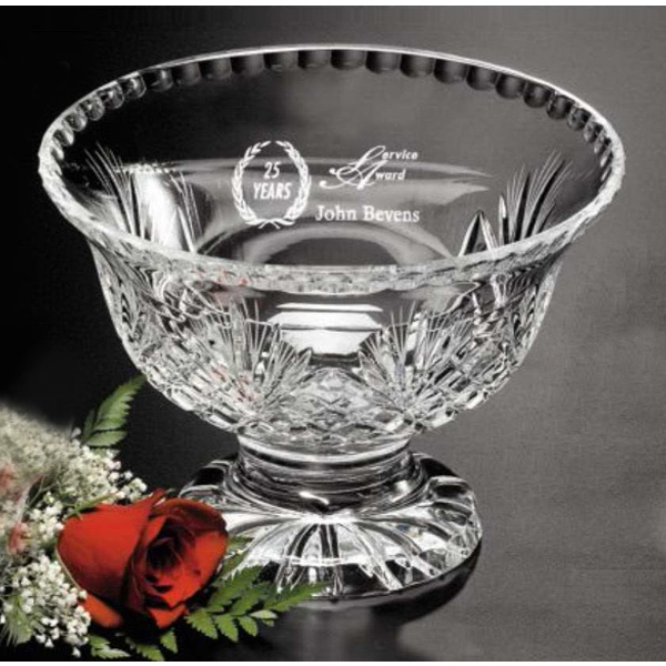 "Durham - 6 3/4"" X 9 1/2"" - Footed Lead Crystal Trophy Bowl Photo"