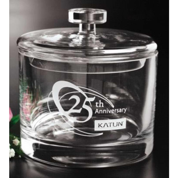"Distinctive Gift Gallery - Lead Crystal Candy Box, 6"" X 5 1/2"" Photo"