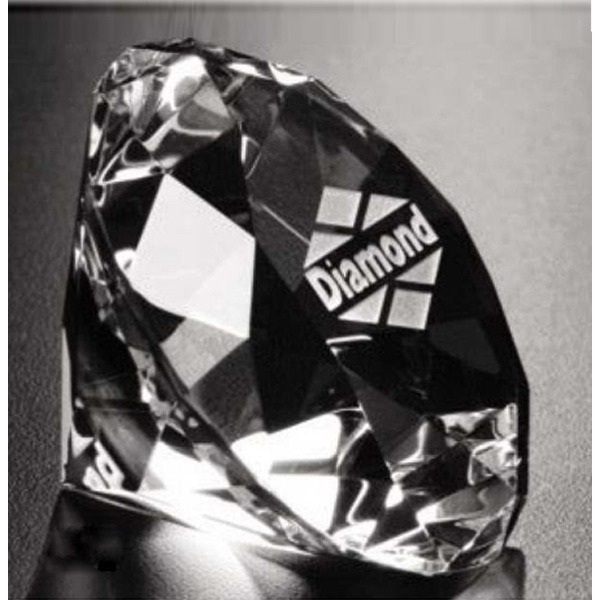 Distinctive Gift Gallery - Optical Crystal Diamond Paperweight Photo
