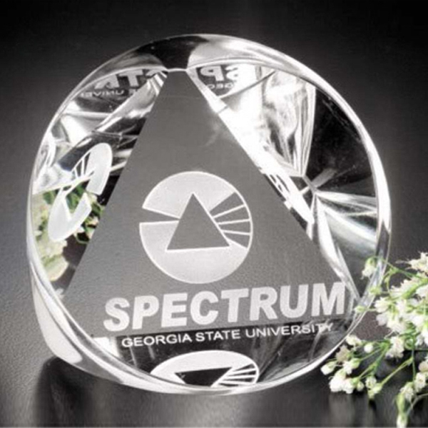 Distinctive Gift Gallery - Optical Crystal Pyramid Prism Award Photo