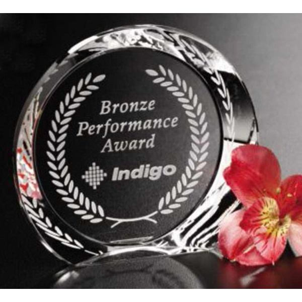 "Achiever Pristine Gallery - 4"" X 1"" - Award Made Of Optical Crystal Photo"