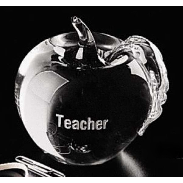 Distinctive Gift Gallery - Apple Shaped Paperweight Glass Photo