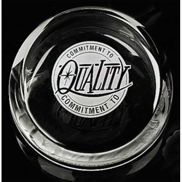 Distinctive Gift Gallery - Slant Top Crystal Paperweight Photo