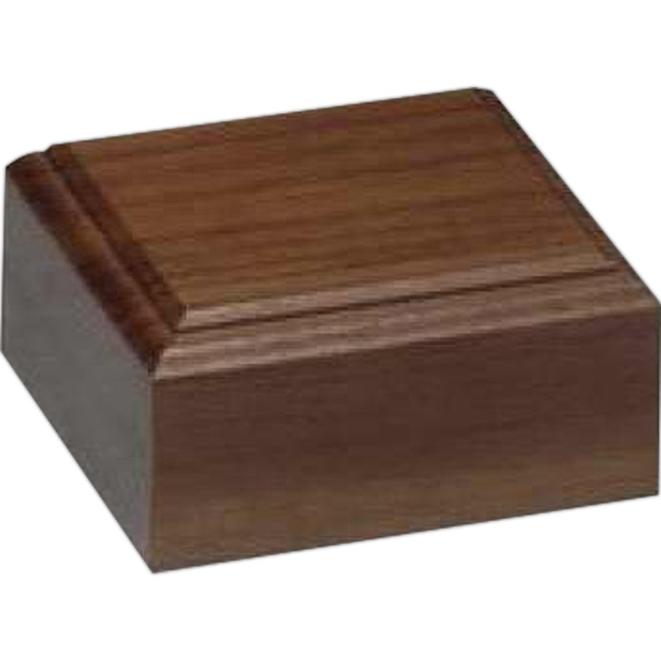 "Walnut Base, 3 1/4"" X 1 1/8"" X 3 1/4"" Photo"