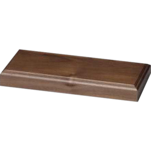 "Walnut Base, 10 3/8"" X 1 1/8"" X 4 3/4"" Photo"