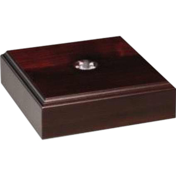 "Lighted Royal Finish Base, 5"" X 1 3/4"" X 5"" Photo"