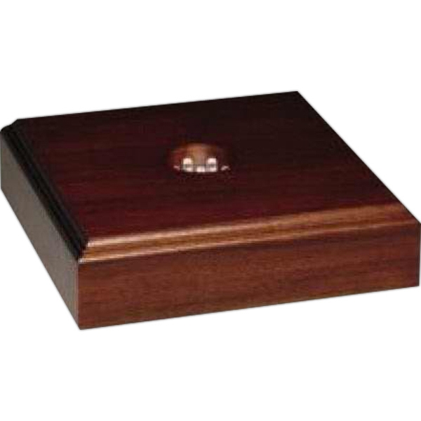 "Lighted Walnut Royal Finish Base, 7"" X 1 3/4"" X 7"" Photo"
